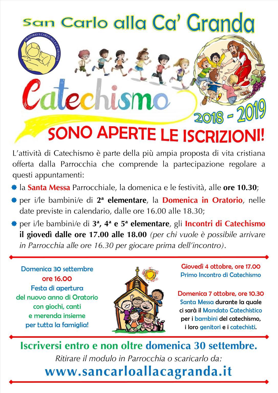 Locandina Catechismo 2018-2019