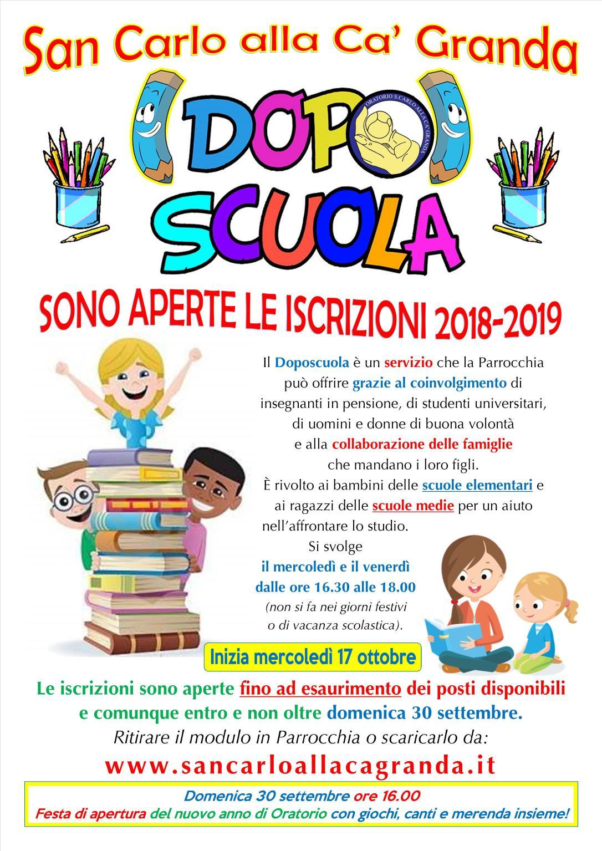 Locandina Doposcuola 2018-2019